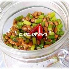 生姜たっぷり♪にんにくの芽と納豆の常備菜