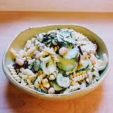 煮豆入りマカロニサラダ