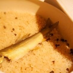 おうちで料亭風〆飯、鮎と山椒の土鍋ご飯