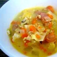 チーズでコク!!牛乳野菜スープ♪