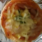 餃子の皮でピザ①