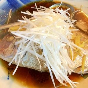 簡単&ヘルシー☆蒸し鯛の中華風