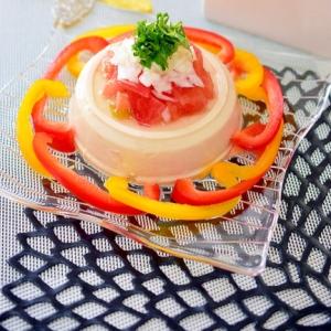 さっぱり♪トマトと新玉ねぎの☆和風豆腐