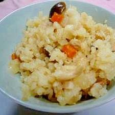 大根とツナとしめじの簡単炊き込みご飯