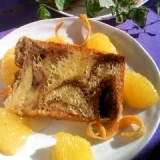 紅茶マーブルのオレンジシフォンケーキ