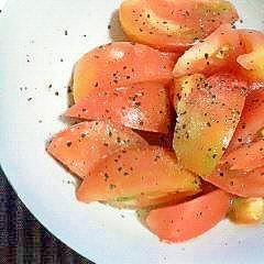 かんたん。トマトの和えるだけ。