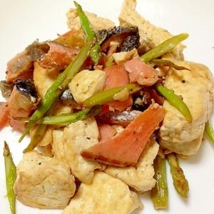 塩味が美味◎鮭と豆腐の炒め物