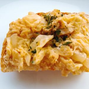 白菜卵炒めトースト