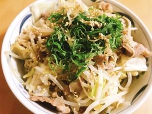 大葉とミョウガのさっぱり肉野菜炒め