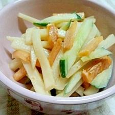 柿と大根のサラダ☆簡単マンガ飯♪ハズレ柿も復活~♪