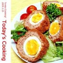 お肉と卵の最強コンビ「スコッチエッグ」