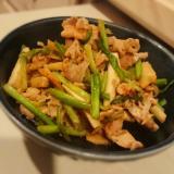 豚肉と里芋ニラ炒め