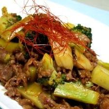 ピリ辛韓国風牛肉・エリンギのコチジャン炒め