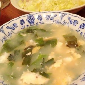 ワカメと卵の中華スープ