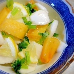 かぶと柿の塩麹レモン和え