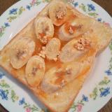 マーマレードとバナナのトースト