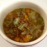 栄養満点☆レンズ豆スープ