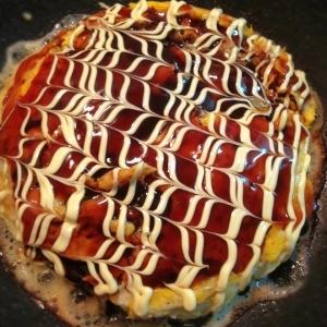 豚肉とキャベツのシンプルなお好み焼き