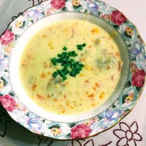 具だくさん!食べるコーンスープ