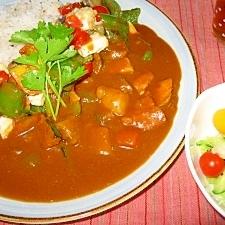 お豆腐と夏野菜のカレー