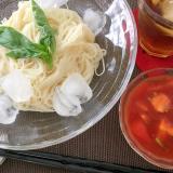 素麺のイタリアン風つけ麺☆そうめんアレンジ