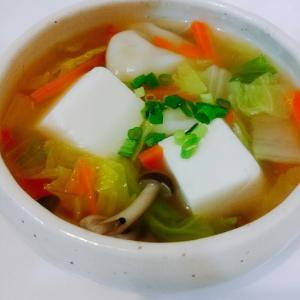 餃子入りスープ