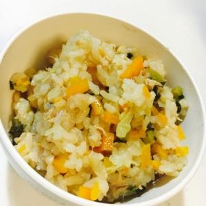 野菜たっぷりツナの炊き込みご飯