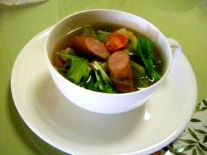 鍋の残り野菜で簡単スープ