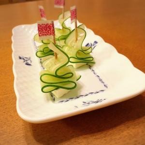 パーティーに☆きゅうり&クリチのツリー風ピンチョス