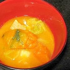 甘みたっぷりかぼちゃの味噌汁