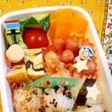 幼稚園のお弁当★丸い一口おにぎり♪