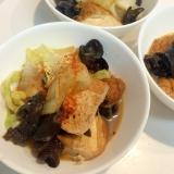 生姜効かせて☆厚揚げとキクラゲと白菜の煮物
