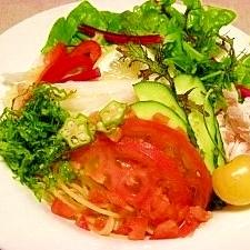 減塩☆菜園風トマト麺