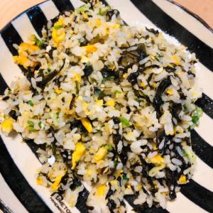 海苔の佃煮と卵のチャーハン