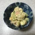 じゃが芋・ゆで卵・エビ・アボガドのサラダ
