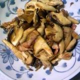 椎茸と舞茸のベーコン炒め