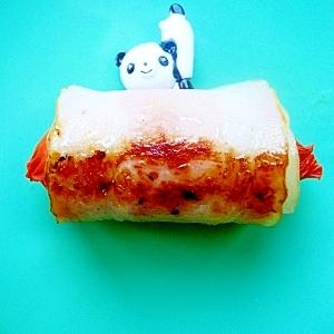 【お弁当に】赤ウインナーのベーコン巻き