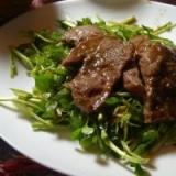 牛肉とクレソンのホットサラダ