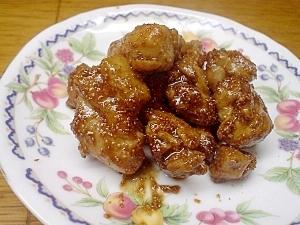 鶏肉の鱈子甘酢炒め