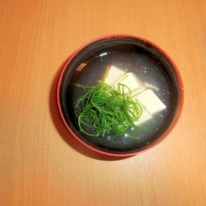 豆腐とおかひじきのマヨスープ