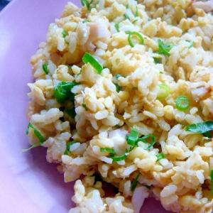 ❤ 昼食に! たこ&ネギの卵チャーハン ❤