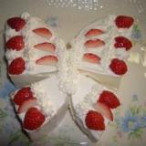 お誕生日に☆可愛いチョウチョのケーキ☆