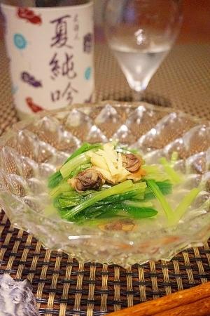 【福岡食材】小松菜とにし貝の煮びたし