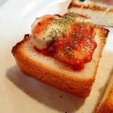 ケチャマス/パセリで 魚ニソとチーズのミニトースト