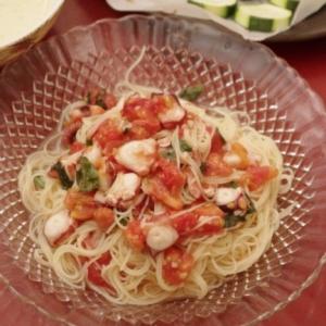 ひんやり、つるん♪蛸とトマトのカッペリーニ