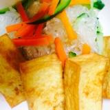 揚げ豆腐とハルサメの煮もの(^^)v