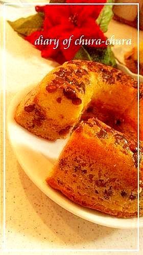 ホットケーキミックス 小豆2色ケーキ♪