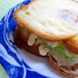 デニッシュパンで玉子サンド