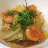エビと白菜の中華丼