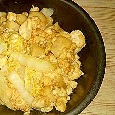 エリンギ・豆腐・白菜の味噌マヨ炒め